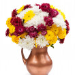 Stock Photo: Chrysanthemums in a copper vase