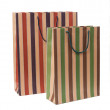 Striped paper bag — Stock Photo