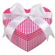 Gift box in the shape of a heart with a bow  — Stock Photo