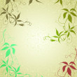 Card with floral background — Vector de stock
