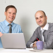 Two businessmen in office — Stock Photo