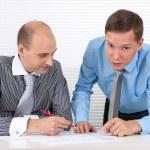 Businessmen at a meeting. Teamwork — Stock Photo #13720424