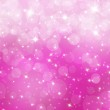 Abstract Christmas pink bokeh background — Stock Photo