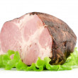 Smoked ham isolated on white background — Stock Photo