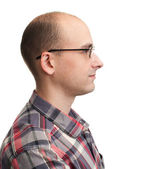 Profile view of man with eyeglasses — Stock Photo