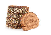 Chokladkaka rulle — Stockfoto