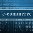 Stock Photo: E-commerce concept, technology background
