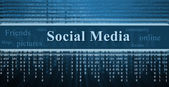 Social network concept, technology background — Stock Photo