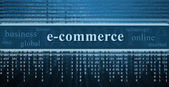 E-commerce concept, technology background — Stock Photo