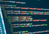 Компьютерный код Html — Стоковое фото