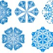 Snowflakes icon collection. Vector shape — Stock Vector