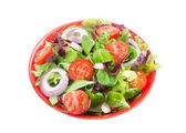 Mixed salad in a bowl — Stock Photo