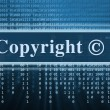 Stock Photo: Copyright message concept