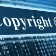 Copyright message concept - Foto Stock