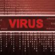 Stock Photo: Computer virus detection. Spyware concept