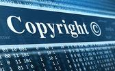 Copyright-meldung-konzept — Stockfoto