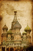 Intercession Cathedral (St. Basil's) on Red Square in Moscow, Ru — Stock Photo