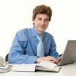 Businessman with laptop at the office — Stock Photo #19222283