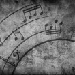 Music notes. grunge background - Stock Photo