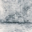 Gray concrete wall and floor closeup — Stock Photo