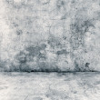 Stock Photo: Gray concrete wall and floor closeup
