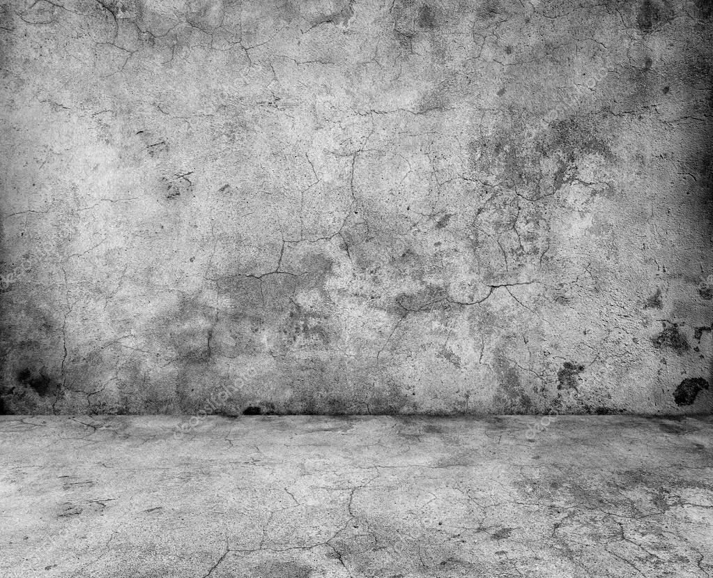 Gray And Gray Concrete : Gray concrete wall and floor closeup — stock photo