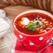 Red soup borsch — Stock Photo
