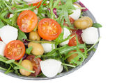 Vegetable salad with mozzarella cheese — Stock Photo