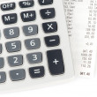 Stock Photo: Check and calculator