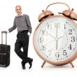 Handsome businessman with his luggage — Stock Photo