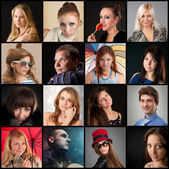 Collection of portraits — Stock Photo