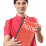 Man learning English — Stock Photo #30396325