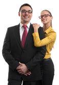 Happy two businesspeople — Stok fotoğraf
