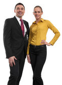 бизнес пара — Стоковое фото
