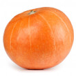 Stock Photo: Fresh orange pumpkin isolated on white background
