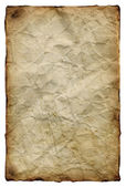 Old yellowed crumpled paper — Stock Photo
