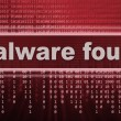Malware. computer virus warning sign — Stock Photo