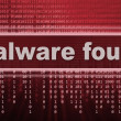 Malware. computer virus warning sign — Stock Photo #32645079