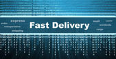 Fast delivery banner — Stock Photo