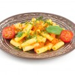 Pasta with tomato — Stock Photo