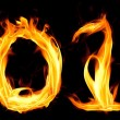 Fiery numbers. Happy New Year 2014 — Stock Photo