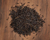 Raw wild rice — Stock Photo