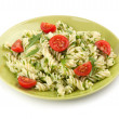 Fusilli pastwith arugula — Stock Photo #36811319