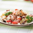 Постер, плакат: Rice with Seafood and vegetables