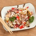 Постер, плакат: Rice with Seafood and vegetables