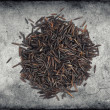 Raw wild black rice — Stock Photo