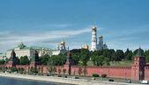 Moskou, Rusland. het grand kremlin paleis en de muur van het kremlin — Stockfoto