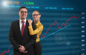 Successful Investment. Happy businesspeople — Stock Photo