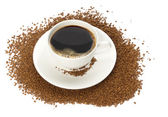 Cup of instant coffee — Stock Photo