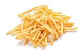 Pile of french fries isolated on white — Stock Photo